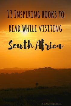 13 Inspiring books to read while visiting South Africa ********************************************* Nelson Mandela | Deon Meyer | Tony Park | Peter Moore |  Peter Allison | Wilbur Smith | Trevor Noah | Inspiring travel books