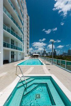 Swimming Pool and Jacuzzi - Nordica Condos #Miami #RealEstate