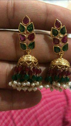 1 Gram Gold Jewellery, Silver Jewelry, Indian Jewellery Design, Jewelry Design, Gold Bangles, Gold Earrings, India Jewelry, Trendy Jewelry, Jewelry Patterns