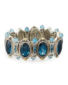 London Blue Topaz Beaded Station Bracelet by Konstantino at Neiman Marcus Last Call.