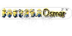 Etiquetas Crayolas Minions 2 #back2school #etiquetas #escolares #stickers #etiquetatodo #maskideas