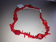 Natural Red Coral Necklace - pinned by pin4etsy.com