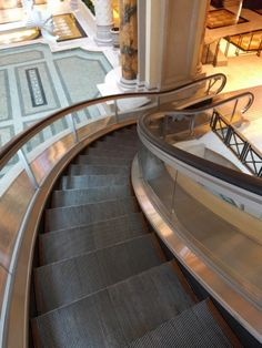 The curved escalator ... a step[ ahead?