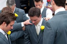 Have the groomsmen pray over the groom before the ceremony.