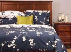 Daniadown Osaka Duvet Cover and Pillowcase Set, Walmart Navy Comforter, Toile Bedding, Comforter Cover, Duvet Cover Sets, Bedding Sets, Blue Duvet, Navy Bedrooms, Bed Covers, Luxury Bedding