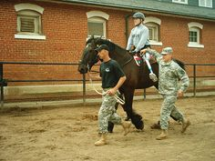 'Horses for Heroes' is a nationwide program for America's wounded service personnel and veterans, established by HARHA, the North American Riding for the Handicapped Association. The program seeks to make programs available to our returning soldiers who have suffered or are suffering from any number of disabilities both physically and mentally through hippotherapy and equine-assisted psychotherapy programs.
