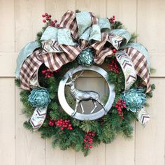 Custom wreath created by Sandy Maccioli of Awesome Abode, Raleigh, NC.