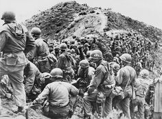 """***** Airborne Operation during Korean War.***** During Korea War, US 187th Airborne Regimental Combat Team had 2 paratrooper operation during Korean War.(Google & Young Ki Moon) 2) Munsan-ni Operation.(""""Operation TomHawk"""".)--Mar.21,1951 Photo 1--- 187 RCT troops are ready near Seoul,Korea. Photo 2-- 187 RCT joined with M-24 Chaffee,24th Div. as planned operation."""