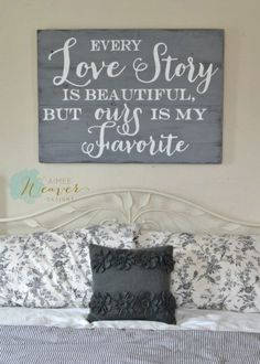 """""""Love Story"""" Wood Sign {customizable}"""