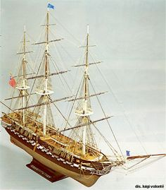 mamoli: u.s constitution Model Sailing Ships, Uss Constitution, Tall Ships, Models, Ship, Sailboats, Model Building, Templates, Fashion Models