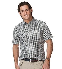 Chaps® Men's Short Sleeve Vernon Plaid Woven | Younkers