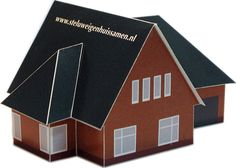 Bouwplaten. LontHuis. Promotiemateriaal: bouwplaat van een huis zoals je dat op www.steluweigenhuissamen.nl kunt ontwerpen. Grafisch Ontwerpers Arnhem