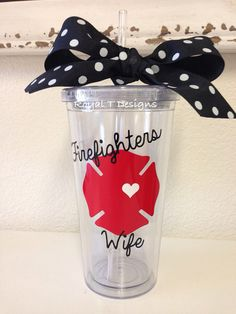 Hey, I found this really awesome Etsy listing at https://www.etsy.com/listing/157037644/20oz-firefighters-wife-tumbler