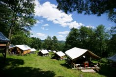 Aloha Foundation - Vermont Summer Camp and Wilderness Programs: tents we plan to duplicate on our farm!