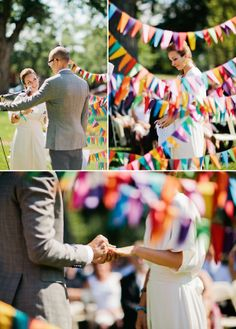 love the flags, also bride and groom wrote the whole wedding and officiated it themselves...might be an idea