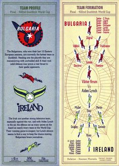 Program from Quidditch World Cup.
