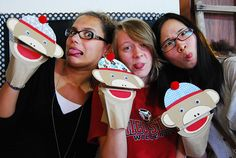 photo booth templates free   Sock monkey photo booth {with a free printable}   Chickabug