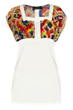 BASHARATYAN V | White and Print Dress | Rtister