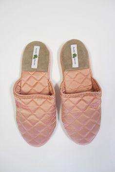 Kumi Kookoon Quilted Silk Slippers