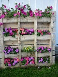 Pallet Upcycled Wall Planter