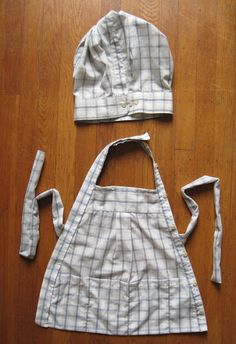 Up-cycled Men's Shirt to a child's apron and chef's hat