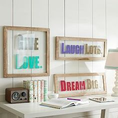 Natural Framed Sentiment Art from PBteen. Saved to pretty bedroom decor. Shop more products from PBteen on Wanelo. Surf Bedroom, Dream Bedroom, Teen Wall Art, Teen Bedding, Teen Room Decor, Pottery Barn Teen, Pbteen, Bedroom Accessories, My New Room