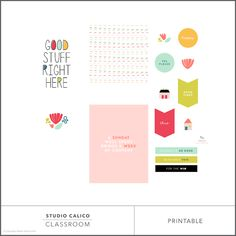 Digital pocket scrapbooking freebie from Studio Calico