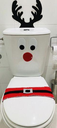 Christmas Bathroom, Office Christmas, Christmas Projects, Simple Christmas, Winter Christmas, Christmas Home, Easy Christmas Decorations, Christmas Ornaments, 242