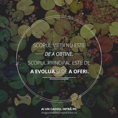 Evoluție și dăruire - două caracteristici ale prosperității.