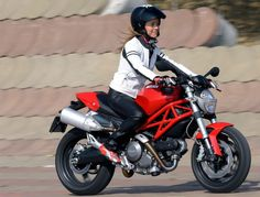 Ducati Monster 696 - Reviewed as best bike for women to ride and the first time rider.  Rated as one of the easiest bikes to handle.