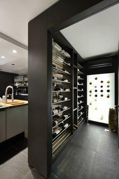 Tons escuros ▪ design contemporâneo    Contemporary Design ▪ black kitchen