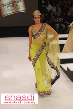 Mustard Green Collections by Vikram Phadnis Vikram Phadnis, My Magazine, Headgear, Picture Photo, Hemline, Pride, Sari, Fancy, Pure Products