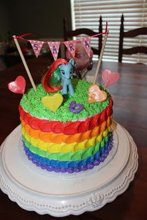 Cakes and Cupcakes: Rainbow My Little Pony Cake