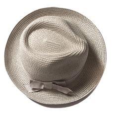 Beach Glam Grey Fedora Straw hat