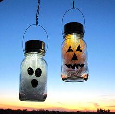 Solar Halloween Mason Jar Lights