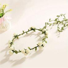 Mulheres Moda espuma de cana guirlanda noiva dama de honra do casamento da flor acessórios para o cabelo coroa banda cabeça boêmio Hot Item Elegante