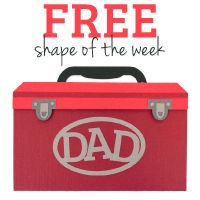 FREE Shape of the Week 6/11:: Father's Day Card