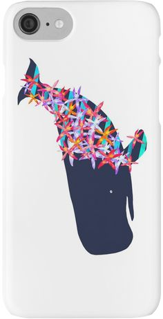 Henry the Sperm Whale on vacation. Henry is watercolor and digital • Also buy this artwork on phone cases, apparel, stickers, and more.  @redbubble Henry The  Sperm Whale is on vacation. Watercolor and digital design. Nautical decor and fashions. #flowers #whale #nautical #spermwhale #illustration #redbubble #tropical #ocean #whaleart #phonecase #iphone