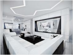 8 Modern Black and White Living Room Designs  #8 #and #black #designs #Living #modern #room #white #InteriorDesign #Home #Architecture #House #homedecor #HomeDesign