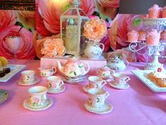 Shabby Chic, Vintage Glam Tea Party Party Ideas | Photo 16 of 19 | Catch My Party
