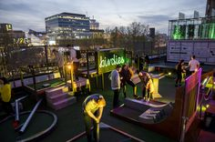 When the sun is shining, Londoners love nothing more than to head to the nearest rooftop bar. Here's our roundup of the best rooftop bars in London. Crazy Golf, Best Rooftop Bars, Miniature Golf, Things To Do In London, Beer Garden, Time Magazine, East London, All Over The World, Travel Inspiration
