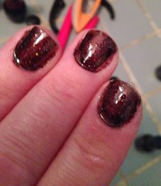 Black Cherry Gel Manicure with Gelish, Red Carpet Manicure and Sensationail