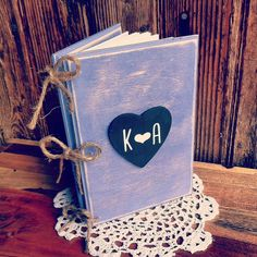 Rustic Wedding Guest Book Rustic Advice For by DownInTheBoondocks, $30.00. . . great idea for a guestbook