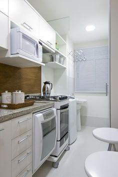 Jeito de Casa: apartamentos Decor, Home N Decor, Kitchen Cabinets, Kitchen Remodel, Kitchen Decor, Kitchen Remodel Small, Home Kitchens, Tiny Kitchen, Kitchen Design