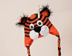 Tiger Earflap Hat