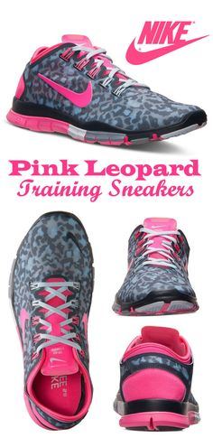 Nike Women's Free Sneakers in Pink Leopard | #fitness #ad