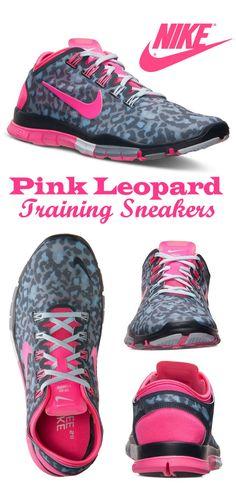 Nike Women's Free Sneakers in Pink Leopard   #fitness #ad
