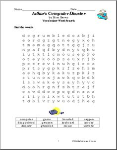 Printables Computer Science Worksheets english computers and printables on pinterest arthurs computer disaster worksheets