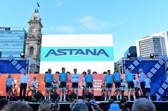 Astana Pro Team at the team's presentation in Adelaide. Tomorrow we start our 2018 season with a traditional criterium People's Choice Classic, while on Tuesday the first WorldTour race will begin - the Santos Tour Down Under 2018! Photo by @Bettiniphoto.net #AstanaProTeam #TDU #cyclingpics #mtb #BiciDaCorsa #bicycle #bikeride #biking #instacycling #outsideisfree