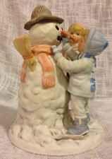 Frances Hook Winter Figurine Ceramic Four Seasons Christmas Children Snowman